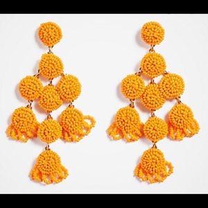 Ann Taylor Orange Beaded Drop Earrings